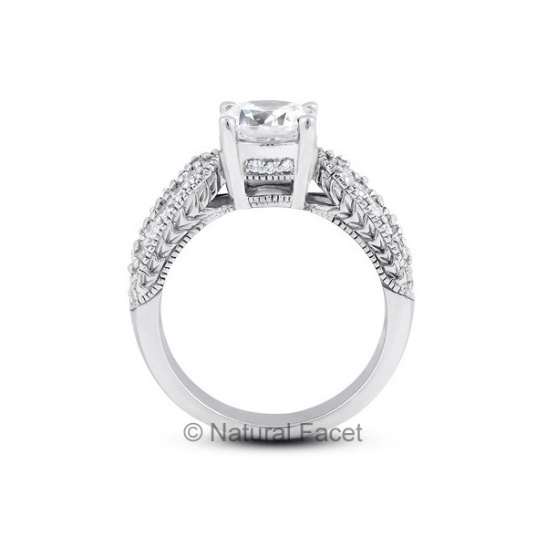 1-69ctw-D-VVS1-Ideal-Round-Diamonds-Platinum-Vintage-Engraved-Accents-Ring-5-1mm thumbnail 2