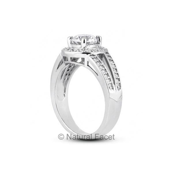 1-17ctw-D-VVS1-Ideal-Round-Diamonds-Platinum-Halo-Split-Shank-Wedding-Ring-5-6mm thumbnail 3