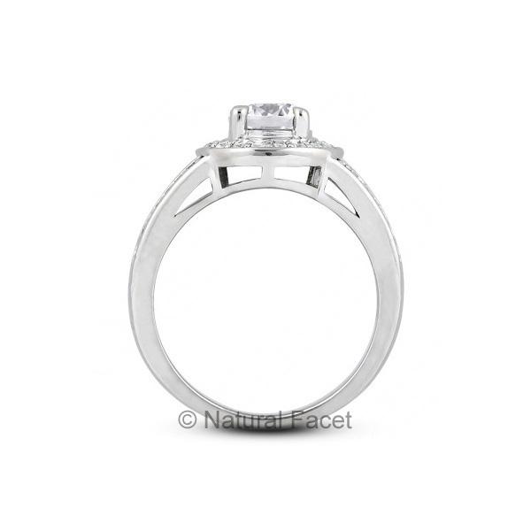 1-17ctw-D-VVS1-Ideal-Round-Diamonds-Platinum-Halo-Split-Shank-Wedding-Ring-5-6mm thumbnail 2