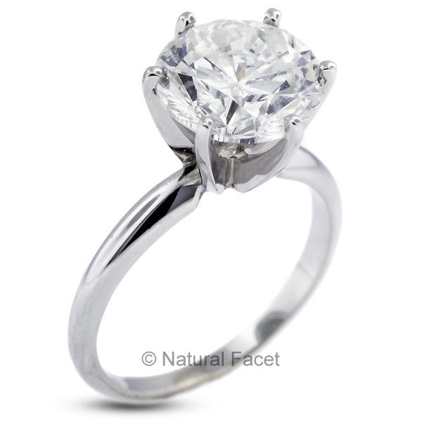 I2 ideal cut round certified diamond platinum classic engagement ring