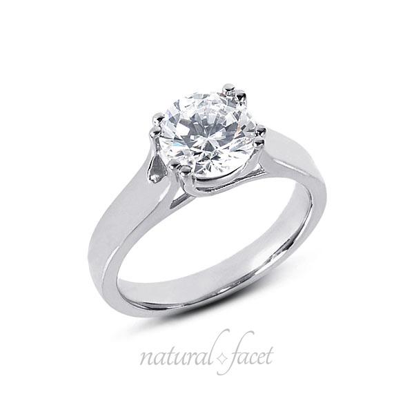 2.03 Carat D VVS1 Ideal Round Diamond White gold Trellis Solitaire Ring 3.9mm
