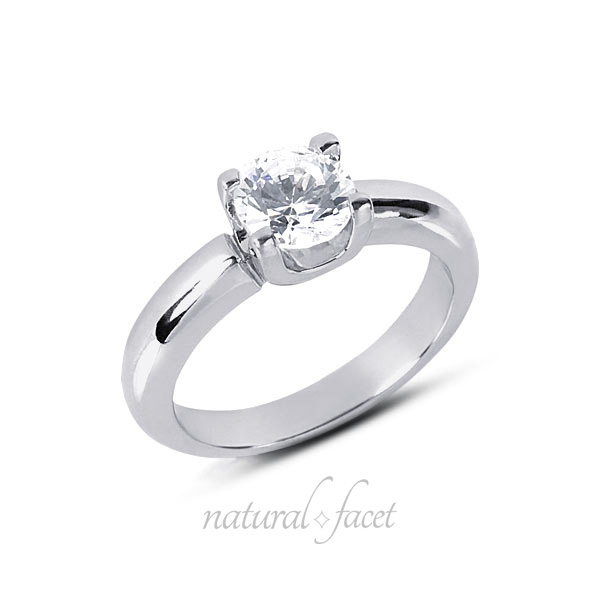 0.83 Carat D VVS1 Ideal Round Diamond White gold Classic Solitaire Ring 3.5mm