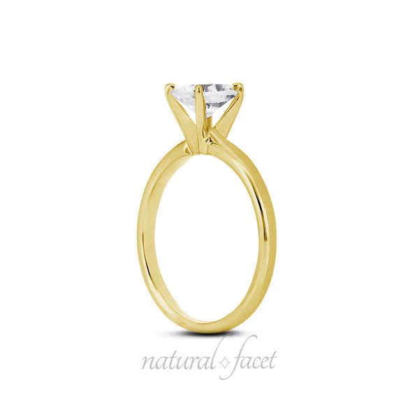 0.60 Carat D VVS1 V.Good Oval Diamond Yellow gold Classic Solitaire Ring 2.5mm