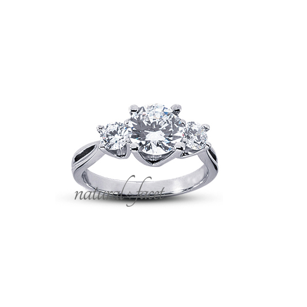2.13 Carat D VVS1 Ideal Round Diamonds 14k White gold Vintage Wedding Ring 2.5mm