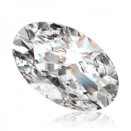3.81ct J-VS2 Oval Diamond AGI Certified