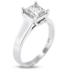 Princess Cut Trellis Solitaire Ring