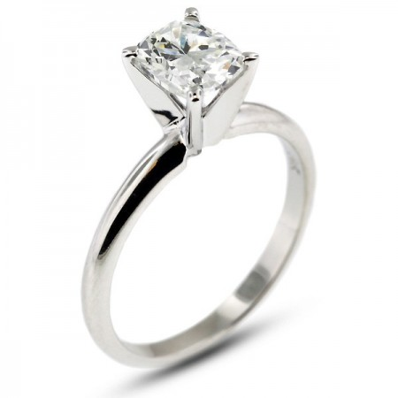 Rectangular Cushion Classic Solitaire Ring