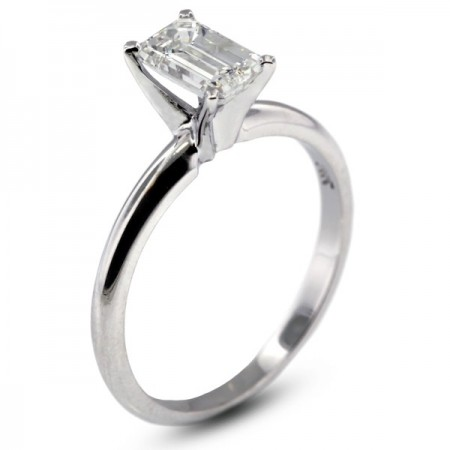 Emerald Cut Classic Solitaire Ring