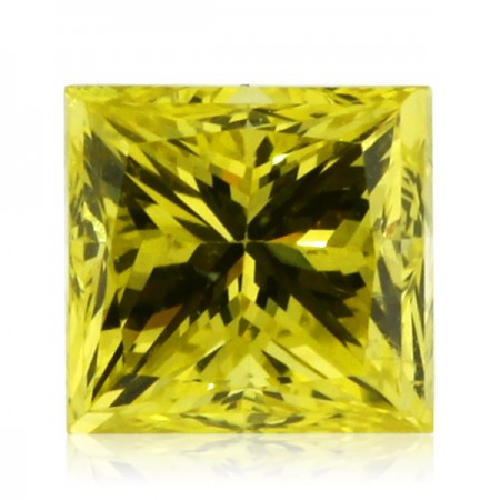 1.04ct Yellow-SI1 Princess Diamond AGI Certified