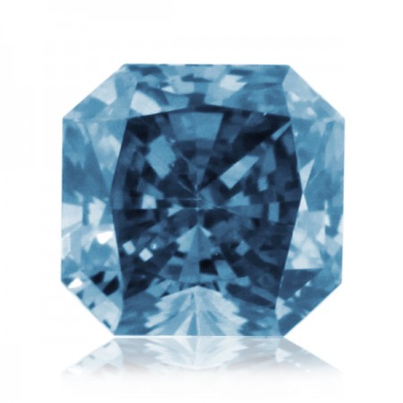 2.22ct Blue-SI2 Square Radiant Diamond AGI Certified