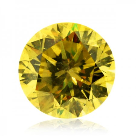 0.97ct Yellow-SI2 Round Diamond AGI Certified