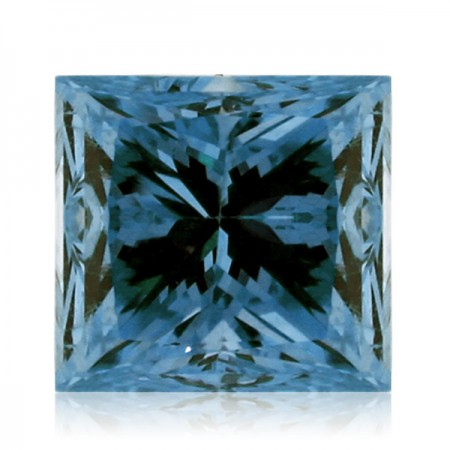 0.56ct Blue-SI1 Princess Diamond AGI Certified