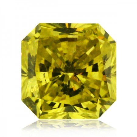 1.03ct Yellow-SI3 Square Radiant Diamond AGI Certified