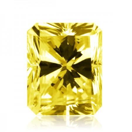 2ct Yellow-VS2 Rectangular Radiant Diamond AGI Certified