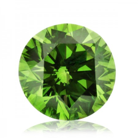 1.54ct Green-SI1 Round Diamond AGI Certified