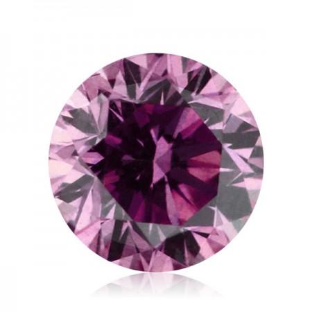 1.06ct Purple-SI2 Round Diamond AGI Certified
