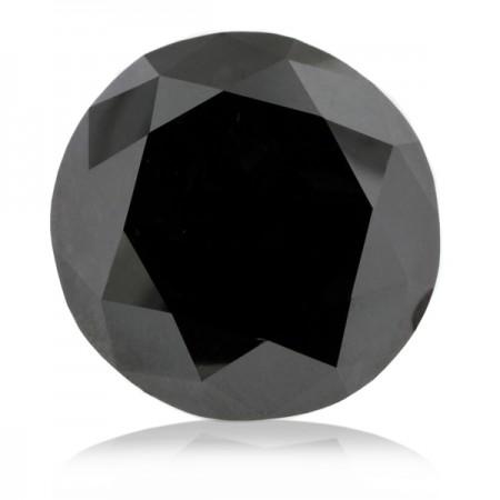 2.01ct Black Round Diamond AGI Certified