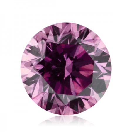 3ct Purple-SI3 Round Diamond AGI Certified