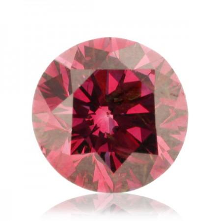 0.83ct Pink-SI1 Round Diamond AGI Certified