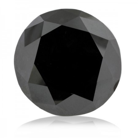 4.02ct Black Round Diamond AGI Certified