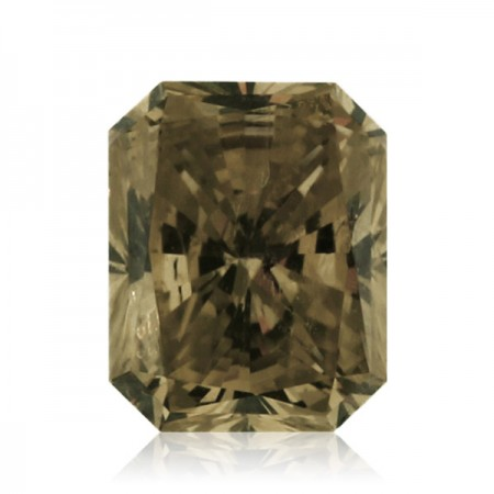 1.04ct Brown-SI2 Rectangular Radiant Diamond AGI Certified