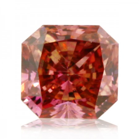 1.22ct Pink-SI2 Square Radiant Diamond AGI Certified