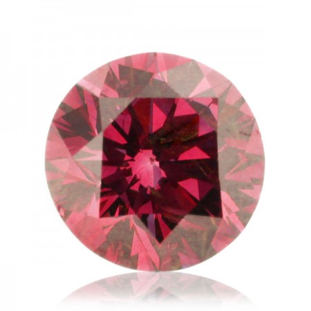 0.9ct Pink-I2 Round Diamond AGI Certified