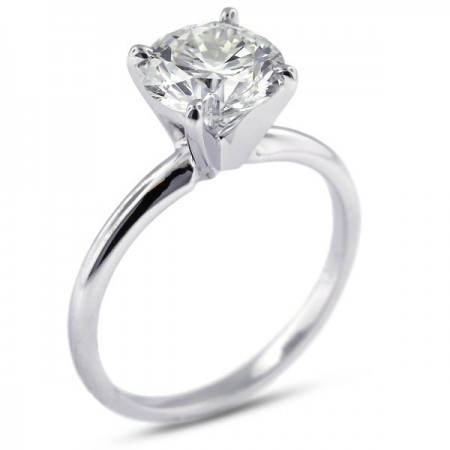 Round Brilliant Classic Solitaire Ring