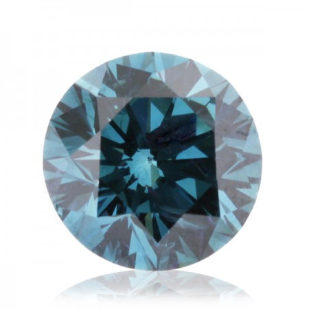 2.07ct Blue-SI1 Round Diamond AGI Certified