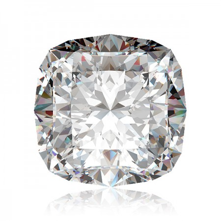 2.12ct D-SI2 Square Cushion Diamond AGI Certified