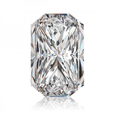 4.15ct E-SI2 Rectangular Radiant Diamond AGI Certified