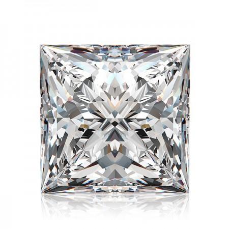 0.66ct F-SI2 Princess Diamond AGI Certified