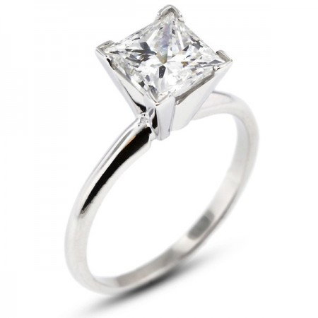 Princess Cut Classic Solitaire Ring
