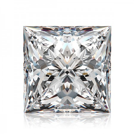 3.53ct F-SI3 Princess Diamond AGI Certified