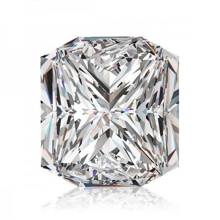 4.07ct F-VS2 Square Radiant Diamond AGI Certified