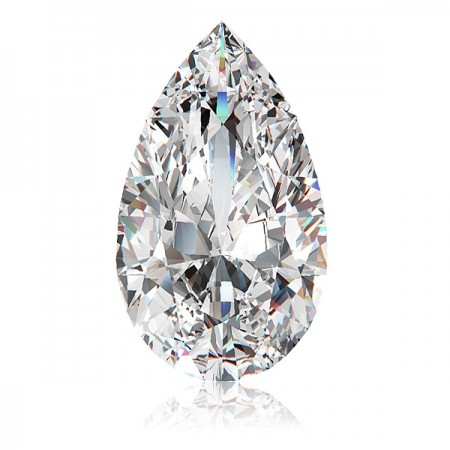 3.69ct H-I1 Pear Diamond AGI Certified