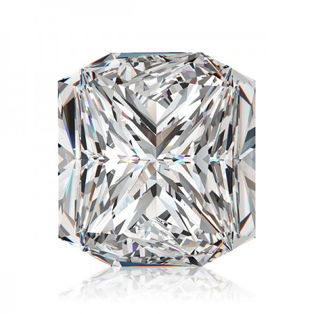 5.07ct H-SI3 Square Radiant Diamond AGI Certified
